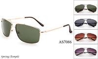 Classic  Aviator Sunglasses Vintage Retro Metal Spring Temple Glasses UV 100%