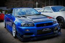 Carbon Kit For 99-02 Nissan Skyline R34 GTR AS-Style Front Lip with Undertray