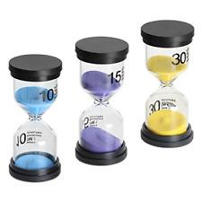 Sand Timer 3 Pack Hourglass Timer Sandglass Hourglass Sand Clock 10/15 / 30 M...