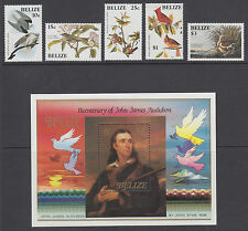 Belize Sc 750-756 MNH. 1985 Audubon Birth Centenary, cplt set, Birds