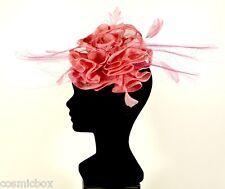 Chapeau de cérémonie pour femme serre tête 3 CHAPEAUX rose French women pink hat