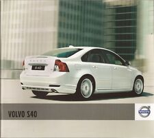 2010 10 Volvo S40 original sales brochure Mint