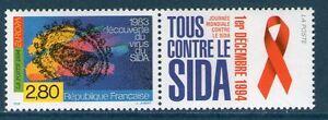 TIMBRE 2916 NEUF XX LUXE -TTB - JOURNEE MONDIALE DE LUTTE CONTRE LE SIDA