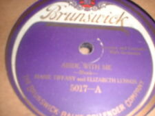 78RPM Brunswick 5017 Marie Tiffany w/ Elizabeth Lennox, Abide With Me/Almost P V