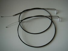 "Extended Black Throttle cables 44"" Long Fits Harley-Davidson 1996 & Later"