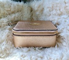 NWT Kate Spade Rose Gold Ollie Leather Jewelry Box Travel Case Perfect 4 Travel