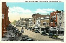 c1920 Postcard; Bowling Green OH North Main Street & Clazel Theater, Unposted