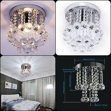 NEW Elegant Chandelier Crystal Lamp Light Ceiling Flush Mount Modern Fixture