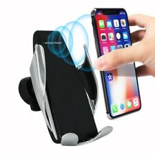 Rotate Automatic Clamping Wireless Car Charger Receiver Mount Fr Samsung iPhone