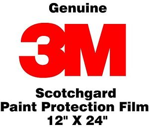 "Genuine 3M Scotchgard Paint Protection Film Clear Bra Bulk Roll Film 12'' x 24"""