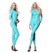 Woman Spandex PVC Gothic Catsuit Bodysuit Jumpsuit Famcy Clubwear Costume New