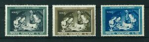 Vatican 1960 Christmas full set of stamps. MNH. Sg 334-336