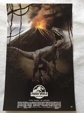 JURASSIC WORLD: FALLEN KINGDOM 11x17 Original Promo Movie Poster Mondo Cinemark