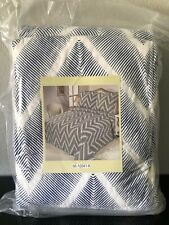 Lavish Home 3 Piece Quilt Set - Oriana - Size:King Zig Zag Reversible Quilted