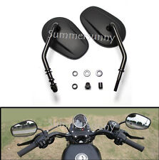 BLACK MOTORBIKE MOTORCYCLE REAR VIEW MIRRORS CNC ALUMINIUM FOR Harley-Davidson