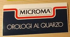 """Adesivo Sticker """"Microma Swiss Quartz"""" - Vintage anni 80 ottimo stato"""