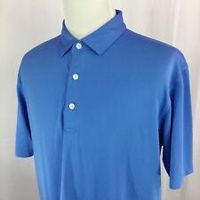 DUNNING GOLF S/S Polo Shirt Mens L LARGE Blue #1422 EUC