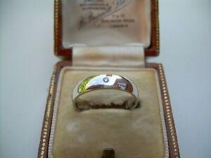 Vintage 9ct White Gold & Natural Diamond Wedding Band Size K