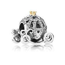 Authentic PANDORA 14k Gold Cinderella Pumkin Coach Disney Charm 791573CZ