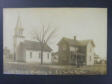 Dowling Ohio OH U.B. Church A.J. Smith Pastor Real Photo Postcard RPPC c1910