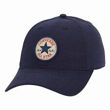 CONVERSE MENS BASEBALL CAP.NAVY BLUE ADJUSTABLE SNAPBACK CURVED PEAK HAT CON301