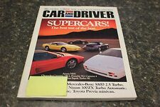 CAR AND DRIVER SUPERCARS! SEPTEMBER 1990 VOL.36 #3 9248-1 [LOC.ELK] (BOX C) #469