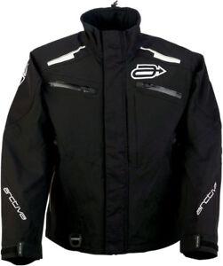 Arctiva Snow Snowmobile SUMMIT Waterproof Shell Jacket (Black/White)
