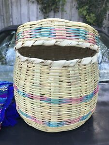 CANASTA 🧺 FROM GUATE 🇬🇹 OR BASKET THE TRADICIONAL FOR ABUELITA WHO USING FOR