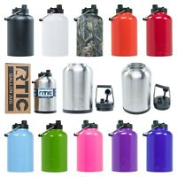 RTIC One Gallon Insulated Water Bottle / Jug Rambler, Stainless Steel, Warranty!