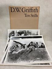 D. W. GRIFFITH TEN STILLS 10PHOTOGRAPHS FROM HIS MOVIES WITH COVER 1965 NEW YORK