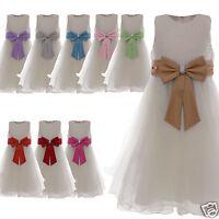 Flower Girl Dress Party Wedding Bridesmaid Age 2 3 4 5 6 7 8 9 10 11 12