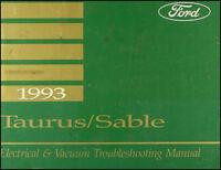 1993 Ford Taurus Mercury Sable Electrical and Vacuum Troubleshooting Manual OEM