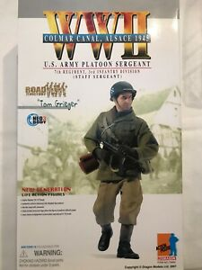 Dragon figure 12 inch 1/6 WWII US Army Platoon Sergeant Alsace 1945 Tom Grieger