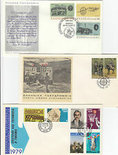 Stamps Greece 1971 & 79 group of 10 FDC's birds, astronomy, scenery 3 covers
