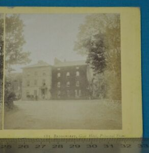 1860s Stereoview Photo Beddgelert Goat Hotel Front Francis Bedford N Wales