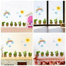Creative Cactus Flower Wall Sticker Living room Decor Home Decal Plant Art