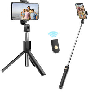 Selfie Stick Tripod Stand with Bluetooth Wireless Remote Extendable Phone Holder