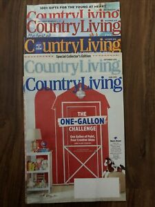 Country Living Magazine Lot 2018 - 5 Issues - Including Christmas