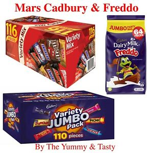 Mars 116 pc VARIETY + Cadbury 110pc VALUE JUMBO Pack + 64 Freddo Milk Chocolate