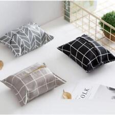 Tissue Holder Napkin Paper Storage Cotton Zakka Grids Box Kitchen Home Decro SM