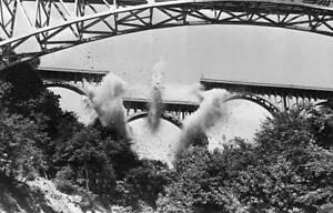 Akron Ohio Center Section Of High Level Bridge Falls 1950 OLD PHOTO