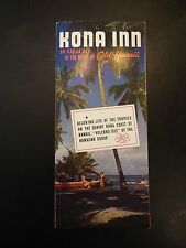 Kona Inn, Old Hawaii Vintage Tourist Brochure