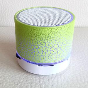 Bluetooth Mini LED Speaker Memory Card USB Music Wireless Speaker Phone