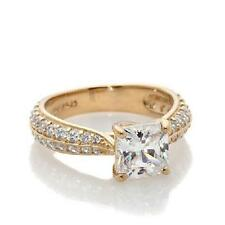 JEAN DOUSSET VERMEIL 2.74 CT ABSOLUTE CLASSICS SQUARE RING SIZE 10 HSN SOLD OUT