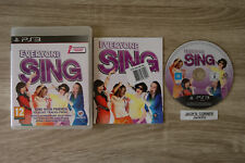 Everyone Sing PS3 Game - 1st Class FREE UK POSTAGE