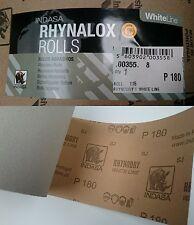 Indasa Rhynalox Whiteline Dry Sand Paper 5m Roll P180 Grit Abrasive Sanding