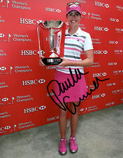 Paula Creamer LPGA star hand signed autographed 8x10 golf photo coa b