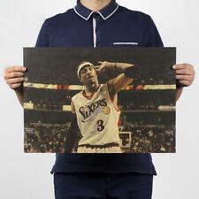 Basketball Star Allen Iverson Vintage Decor Wall Chart Kraft Paper Retro Poster