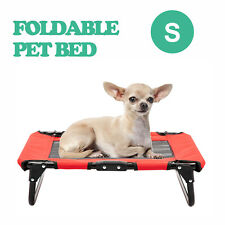 Elevated Dog Bed Cot Folding Portable Raised Cooling Camping Pet Lounger Small