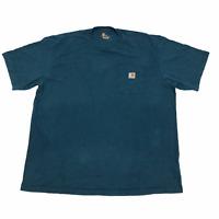 Carhartt Pocket T Shirt Blue 2XL